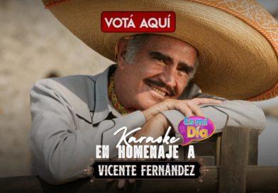 Aquí podés votar por tu presentador favorita del Karaoke en homenaje a Vicente Fernández de Es Mi Día