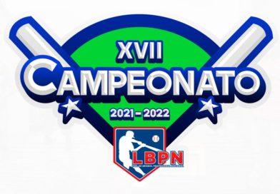 Logo oficial del XVII Campeonato 2021/2022 de la Liga de Béisbol Profesional Nacional (LBPN).
