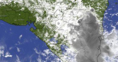 Imagen satelital de las condiciones del clima en Nicaragua.