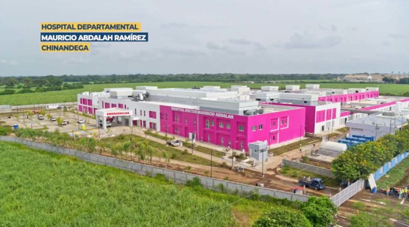 Vista aérea del Hospital Mauricio Abdalah en Chinandega